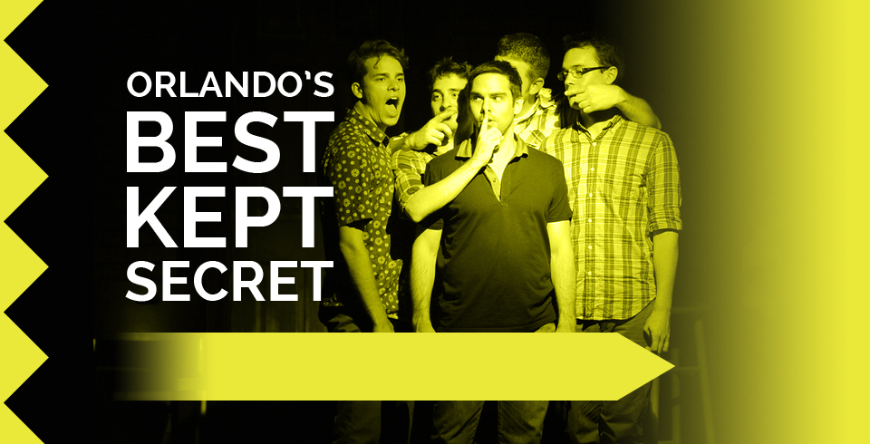 You deserve to laugh. We make that happen five nights a week. Watch Orlando\'s best improv comedy tonight!
